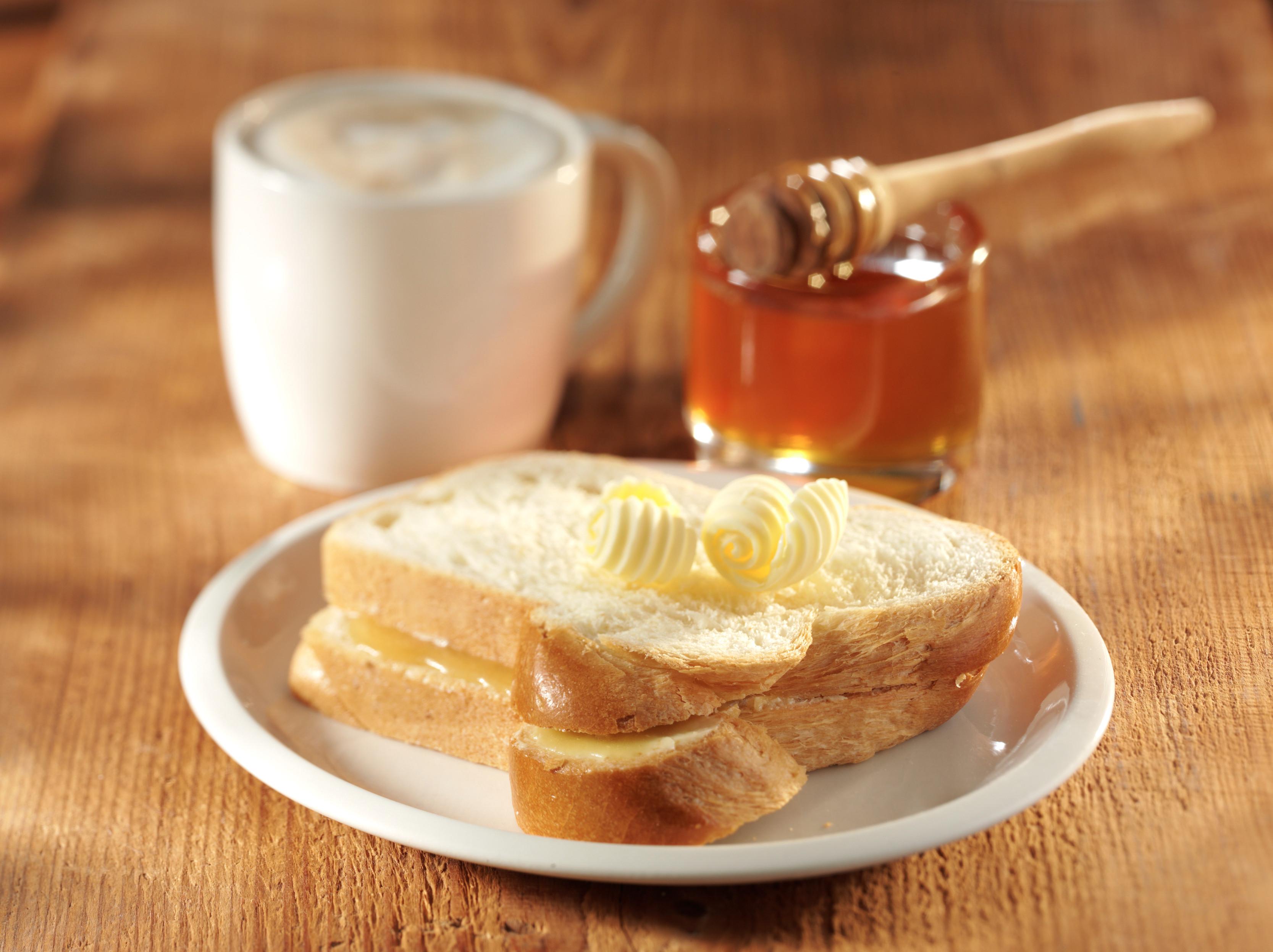 <h5>Zopf mit Butter und Honig</h5>