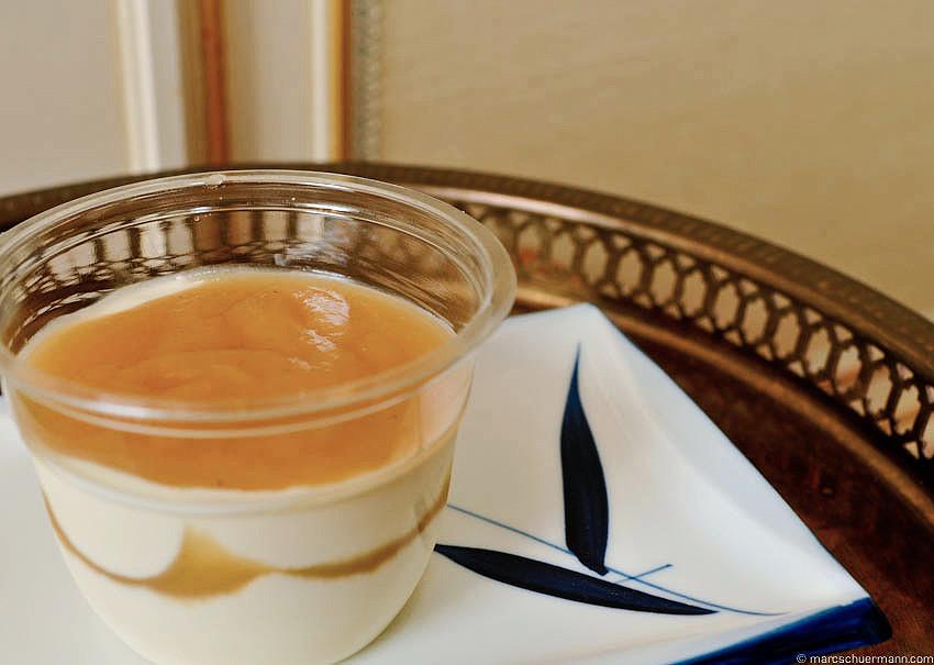 <h5>Mascarpone-Crème mit Apfelmus</h5>