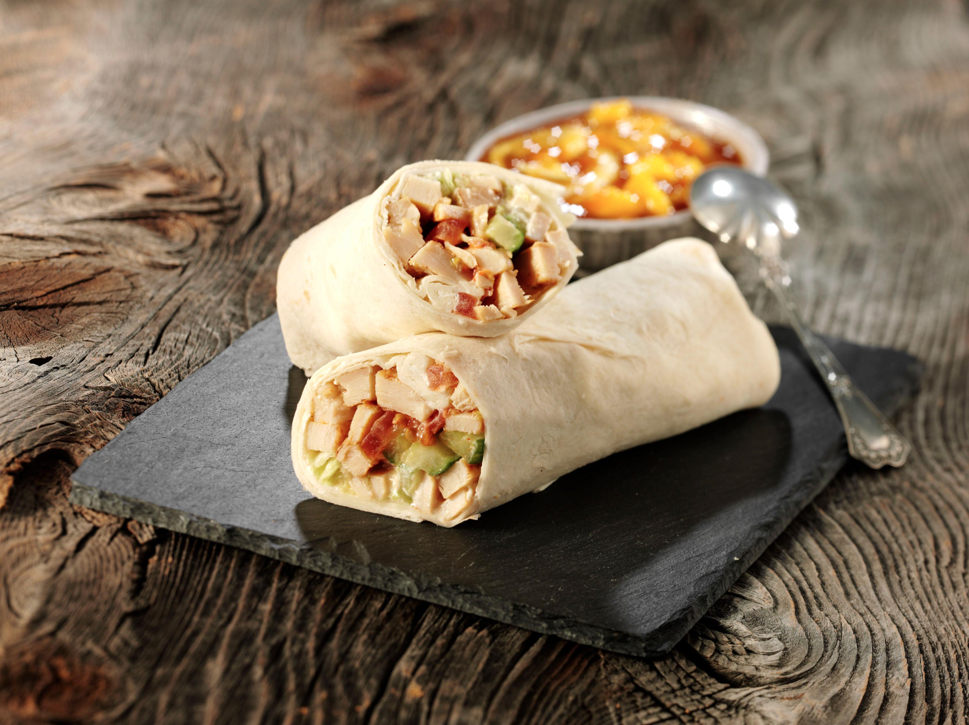 <h5>Wrap mit Chicken-Tandoori-Füllung</h5>