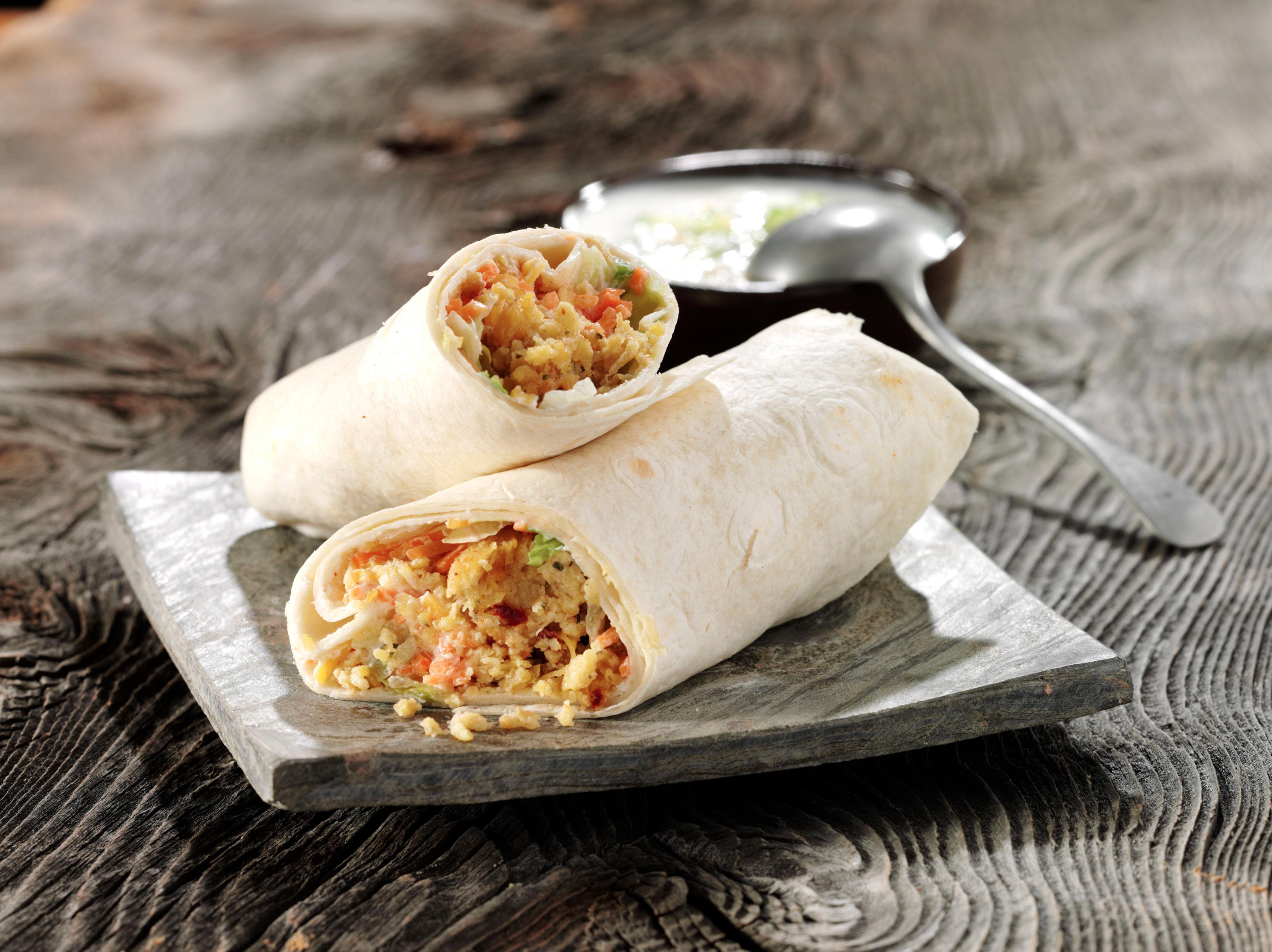<h5>Wrap mit Salat und Falafelbällchen</h5>