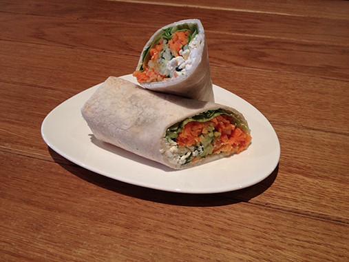 <h5>Vegetarischer Gemüse-Wrap</h5>