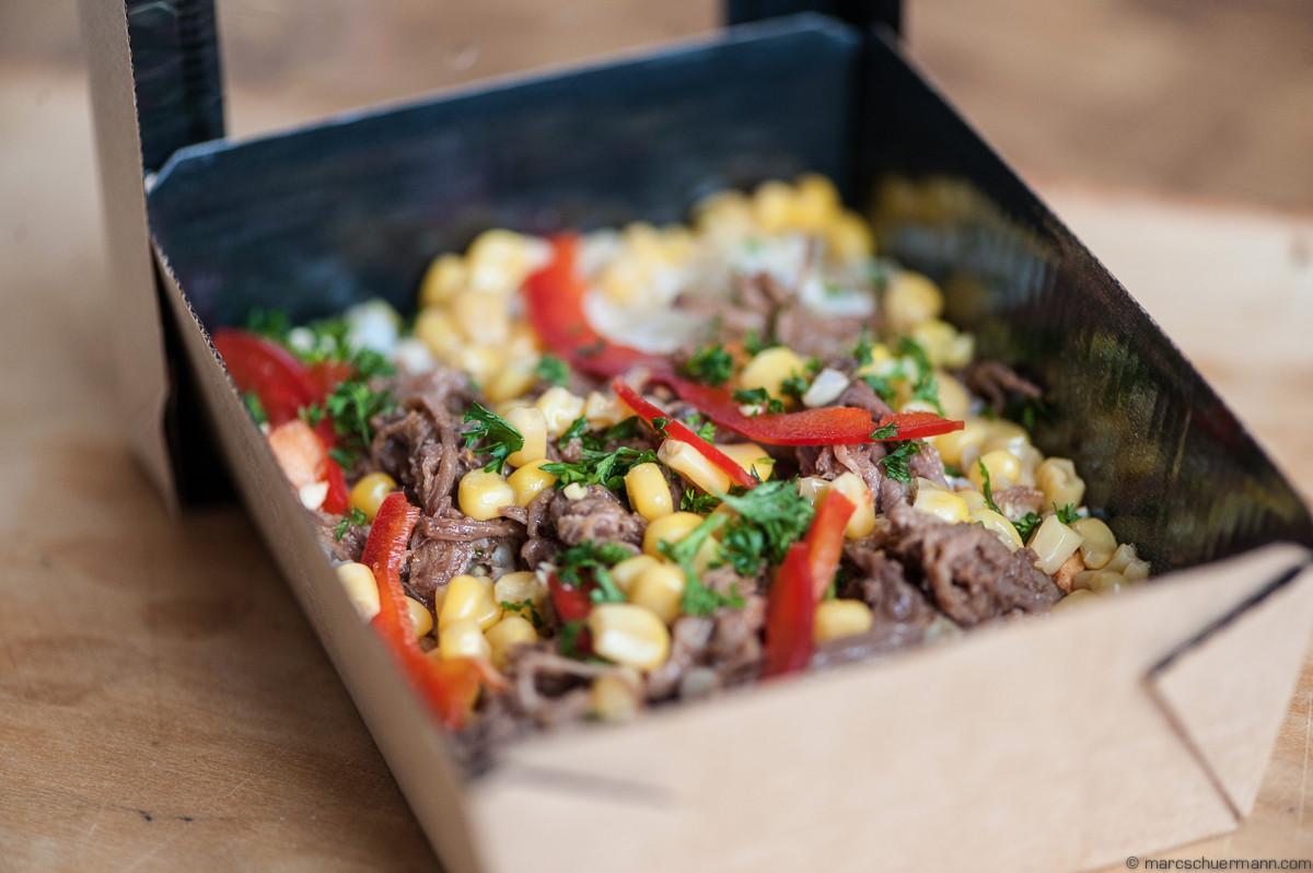 <h5>Reis mit Beef an einer pikanten Sauce</h5>