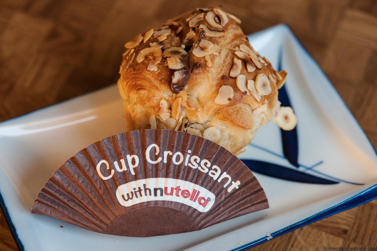 <h5>Croiffin – Muffin mit Croissant-Teig, bestreut mit Mandeln und gefüllt mit Original Nutella.</h5>